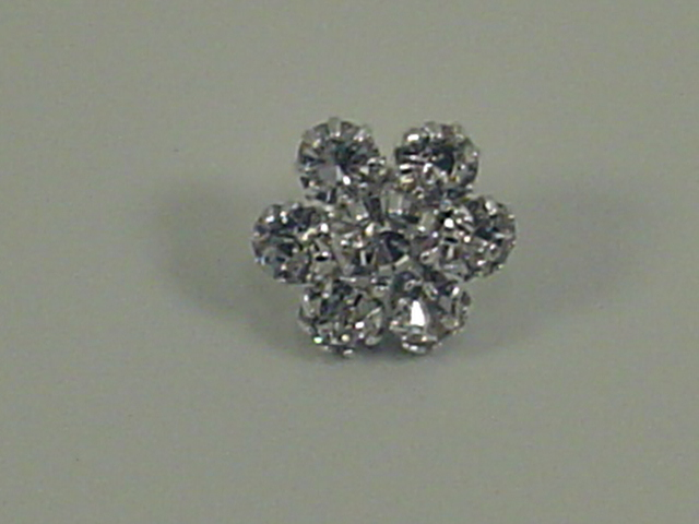 1pc. DAINTY SNOWFLAKE CRYSTAL BUTTON