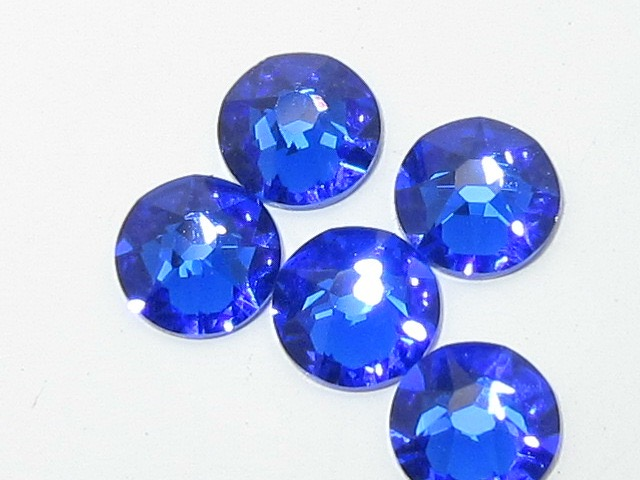 72 pcs. 20ss MAJESTIC BLUE HOT FIX Swarovski Rhinestones